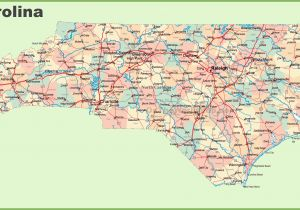 Detailed Map Of north Carolina Cities Road Map Of north Carolina with Cities