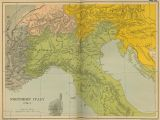 Detailed Map Of northern Italy Historical Maps Of Italy