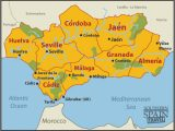 Detailed Map Of southern Spain Map Of Spain