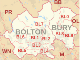 Districts Of England Map Bl Postcode area Wikipedia