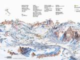 Dolomite Mountains Italy Map Cortina D Ampezzo Slope Map Dolomiti Superski