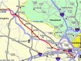 Dominion East Ohio Service area Map Washington Old Dominion Trail D C Rail Trail