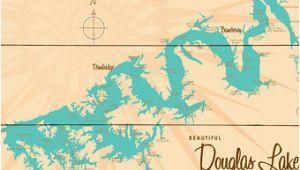Douglas Lake Tennessee Map Douglas Lake Etsy