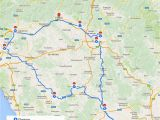 Driving Map Italy Tuscany Itinerary See the Best Places In One Week Florence