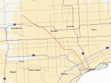 Driving Map Of Michigan M 10 Michigan Highway Wikipedia