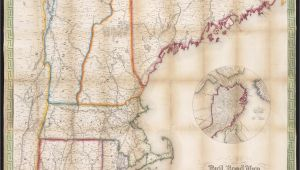 Driving Map Of New England File Telegraph and Rail Road Map Of the New England States
