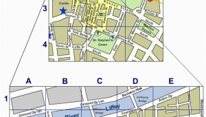 Dublin Ireland Street Map Dublin City Centre Street Map Irishtourist Com