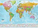 Dublin Ireland World Map World Map with Flags Xxl Giant Poster 2018 Maps In Minutesa 140cm X 100cm 55 X 39in