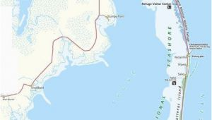 Duck north Carolina Map Map Of the Outer Banks Including Hatteras and Ocracoke islands