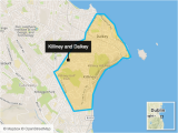 Dunleary Ireland Map Killiney and Dalkey Two Irish Coastal Villages that Make Up