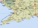 East Coast Of Italy Map Amalfi Coast tourist Map and Travel Information