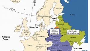 Eastern and Western Europe Map Eastern Europe