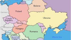 Eastern Europe Outline Map Maps Of Eastern European Countries