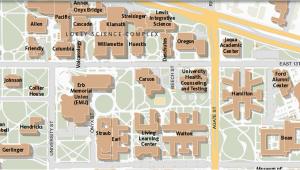 Eastern oregon University Map Maps University Of oregon