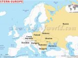 Eatern Europe Map Map Of Russia and Eastern Europe