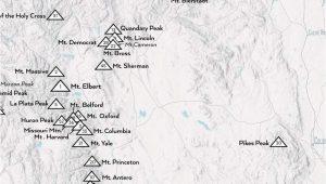 Elbert County Colorado Map Elbert County Colorado Map Fresh Amazon 58 Colorado 14ers Map 18a 24