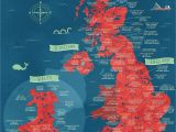 England On A Map A Literal Map Of the Uk Welsh Things Map Of Britain Map Of