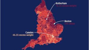 England Population Density Map England S Obesity Hotspots How Does Your area Compare