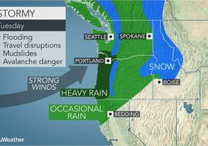Enterprise oregon Map Early Week Storm May Be Strongest yet This Season In northwestern Us
