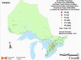 Environment Canada Radar Maps Canadian National tornado Database Verified events 1980 2009