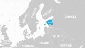 Estonia On Europe Map What Continent is Estonia In Worldatlas Com