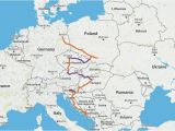 Eurail Map Spain Gateway to Eastern Europe Itinerary Travel Time 2 4 Weeks