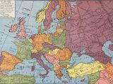 Europe 1914 Political Map Europe From 1914 to 1935 Rand Mcnally Company 1946