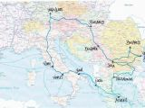 Europe Backpacking Map Exploring Europe Via Interrail In 2019 Travel Travel