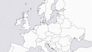 Europe Empty Map Blank Map Europe Climatejourney org