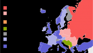 Europe In the Cold War Map Political Situation In Europe During the Cold War Mapmania