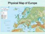 Europe Landforms Map Physical Europe Map Climatejourney org