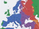 Europe Map 1937 Europe Map Time Zones Utc Utc Wet Western European Time