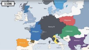 Europe Map Animation Animation Presents the Rulers Of Europe Every Year since 400