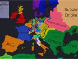 Europe Map Civ 5 Europe In 1618 Beginning Of the 30 Years War Maps