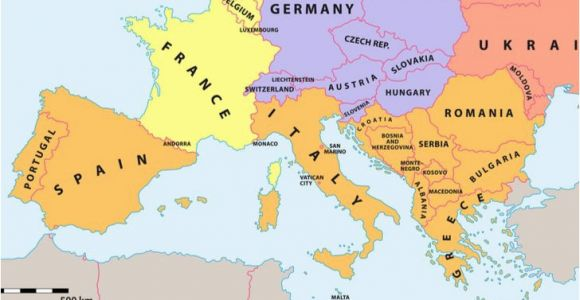 Europe Map Monaco which Countries Make Up southern Europe Worldatlas Com