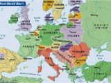 Europe Map Post Ww1 Countries Western World Maps
