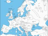 Europe Map with Countries and Capitals Names A Map Of Europe with Capital Cities as Labeled by An