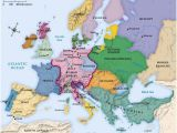 Europe Map with Seas Map Of Europe Circa 1492 Maps Historical Maps Map History