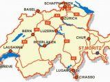 Europe Map with Switzerland Awesome Map Of Switzerland tourist Travelquaz Map Of