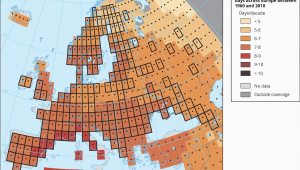 Europe Temperature Map January Global and European Temperature European Environment Agency