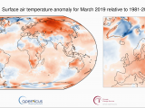 Europe Temperature Map January Surface Air Temperature for March 2019 Copernicus