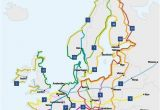 Europe Trip Planner Map Choosing A Cycling Route From Greece to England to Go List
