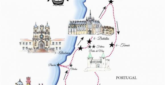 Europe Trip Planner Map Portugal Road Trip Map A Road Trip Itinerary Around Lisbon