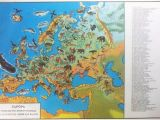 Europe Vegetation Map Natural Vegetation and Characteristic Wild Animals Of Europe