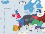 Europe with National Boundaries Map the History Of Europe Every Year