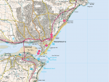 Exeter Map England Teignmouth Seafront Print Walk south West Coast Path