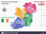 Ferry Routes to Ireland Map Provinces Map Ireland Stock Photos Provinces Map Ireland Stock