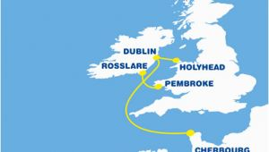 Ferry Uk to Ireland Map Ferry to France From Ireland Cheap Ferry to France
