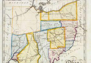 Findlay Ohio Map John Melish Map Of Ohio Ohio History Genealogy Pinterest