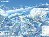 Flaine France Map Grand Massif Piste Map Canvas Print In 2019 Ski and Snowboarding